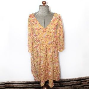 🎀3/$30 George Yellow Floral Summer Dress 2X